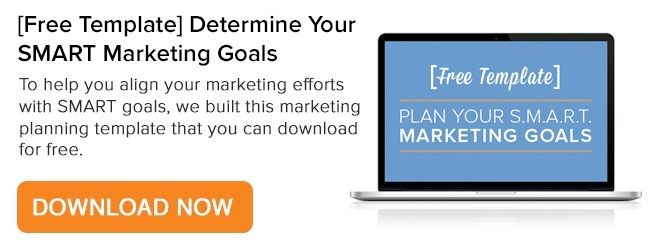 Get SMART about your higher education marketing goals.  Download our SMART higher education template.